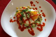 Fried Egg with Chickpea Salad and Sriracha | 26 Egg Recipes That Are Stepping Up Their Game