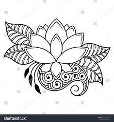 Mehndi lotus flower pattern for Henna drawing and tattoo. - Tattoo Inspiration - Mehndi Lotus Flower Pattern For Henna Drawing And Tattoo Decoration … - Mandala Art, Henna Drawings, Art Drawings, Mehndi Flower, Lotus Flower Henna, Lotus Flowers, Bracelete Tattoo, Dibujos Zentangle Art, Et Tattoo