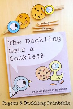 Pigeon and the Duckling! Free Printable Book Activity for The Duckling Gets the Cookie. Fun for story retelling and fine motor work.