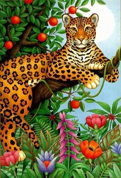Leopard in Tree ~*~ Stephanie Stouffer