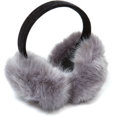 Oversized Faux Fur Ear Muffs ❤ liked on Polyvore featuring accessories, hats, earmuffs, ear muffs, hair accessories and faux fur earmuffs