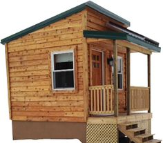 Sensible Structures out of Pottsville, PA - good blueprint for a 250 sq ft tiny home with optional bedroom