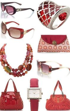 Red designer accessories ♥✤ | Keep the Glamour | BeStayBeautiful
