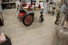We worked together with a customer to help her achieve this beautiful French Provincial look in her Gift Store in Nerang Mall!  (Karndean Loose Lay Vinyl - Country Oak)