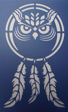Dream Catcher Owl Stencil by kraftkutz on Etsy Free Stencils, Stencil Templates, Stencil Patterns, Stencil Designs, Owl Stencil, Animal Stencil, Stencil Painting, Kirigami, Owl Dream Catcher