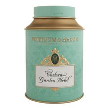 Chelsea Garden Blend - Fortnum & Mason >>> A soft floral taste with Hibiscus and Green Jasmine. --- Ideal at any time of day. --Brewing information:  Heat water to 95° C. Use one teaspoon of tea per person and brew for five minutes. It is best served without milk.