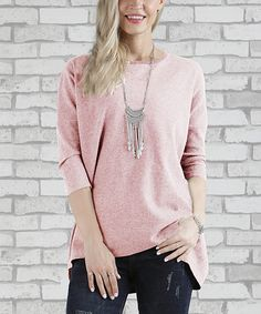 Take a look at this Pink Thermal Three-Quarter Sleeve Top - Plus Too today!