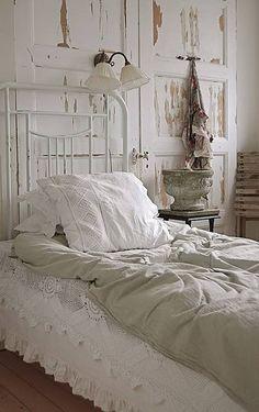A dreamy white bedroom