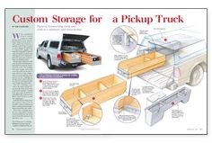 Custom Storage for a Pickup Truck - Fine Homebuilding Truck Bed Drawers, Truck Bed Storage, Vehicle Storage, Tool Storage, Storage Boxes, Custom Truck Beds, Custom Trucks, New Trucks, Pickup Trucks