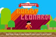Robby Leonardis interactive resume  heyrleonardicom