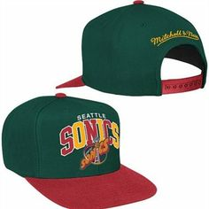 cedd098f727a8 Mitchell   Ness Seattle Supersonics Tri-Pop Snapback Hat