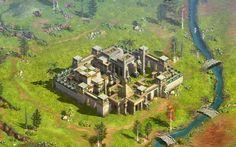 احدى المدن الرائعة في لعبة أرض المعارك