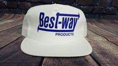 d23f496afee Vintage BEST WAY Mesh Snapback Cap Hat USA MADE Trucker Hat  PROSHOP  Cap