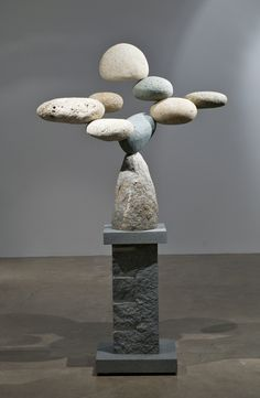 Floating Stones Sculpture  by Woods Davy