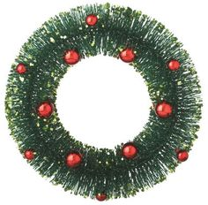 Wayfair Classic Christmas 11.5 Bottle Brush Wreath. Click on the image to buy or get more info - #christmasdecor #christmaswreaths #christmas | christmas wreaths | christmas wreaths diy | christmas wreaths for front door | Artificial Christmas Wreaths | Christmas decorations - Wreaths | Christmas Wreaths & Decor | Christmas Wreaths |