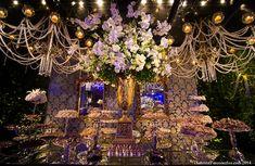Decoração | Azul, Branco e Dourado | Vestida de Noiva | Blog de Casamento por Fernanda Floret