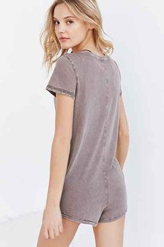 Out From Under Boyfriend Tee Romper - Urban Outfitters