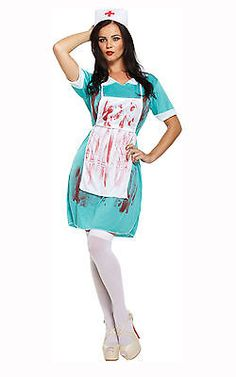 411f046c0634c Bloody Zombie Couples Horror Fancy Dress Halloween Costumes Doctor Nurse  Surgeon in Clothes, Shoes &