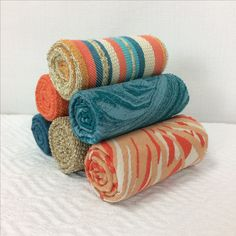 Happy National Burrito Day! In our opinion, the best burrito is a fabric sample burrito. Check out our Alaxi and Silver State Fabric collections on our website:  https://www.silverstatetextiles.com/  See you there!  Textiles featured: Top - Espadrille Caribbean Middle Row Left - Magic Paradise Middle Row Right - Moab Splash Bottom Left - Avanti Deep Sea Bottom Middle - Sterling Toasty Bottom Right - Amazon Sunset