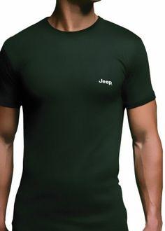 Jeep Men's 1 Pack Short Sleeved Thermal T-Shirt Large Black