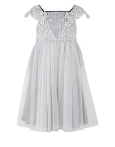 Estella Ballgown Dress | Silver | Monsoon