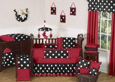 boy crib bedding red   ... RED BLACK AND WHITE LUXURY DESIGNER GIRL ROOM BABY BEDDING CRIB SET