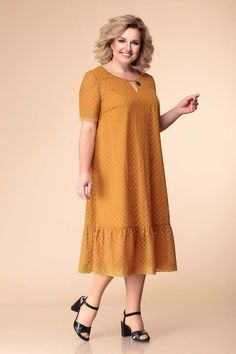 Dresses for obese girls and women of the Belarusian brand Romanovich Fashion Style spring-summer 2019 Simple Dresses, Plus Size Dresses, Casual Dresses, Summer Dresses, Short Dresses, Latest African Fashion Dresses, Ankara Fashion, Frack, African Dress