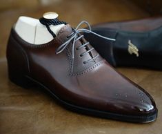 New Stylish Handmade Men& Brown Color Leather Shoes, Men& Oxford Lace Up Brogue Shoes is part of Formal shoes for men New Stylish Handmade Men& Brown Color Leather Shoes, Men& Oxford Lace Up Bro - Formal Shoes For Men, Men Formal, Lace Up Shoes, Dress Shoes, Dress Lace, Gents Shoes, Zapatillas Casual, Gentleman Shoes, Custom Design Shoes
