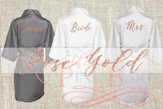 SALE Rose Gold Special Listing Rose Gold Bridesmaids Robes