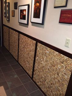 My wine cork wall. Future wine bar maybe? Wine Craft, Wine Cork Crafts, Wine Bottle Crafts, Wine Cork Projects, Wine Cork Art, Cork Wall, Wine Bottle Corks, Creation Deco, Wine Decor
