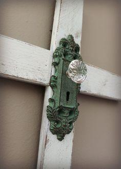 Cruz decoración apenado Cruz de madera rústica por xBeyondBlessedx