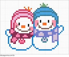 Winter hama perler pattern