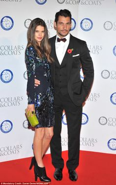 David Gandy and girlfriend Sarah Ann Macklin attended the Battersea Dogs & Cats Home's Collars and Coats Gala Ball earlier this month