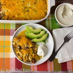 Easy Taco Casserole Recipe - Low Carb, Keto, 5 Ingredients, Gluten-Free, Grain-Free, THM S