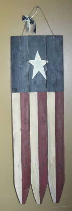 Primitive Wooden American Flag by DedesCountryCrafts on Etsy