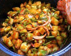 내가 아는 모든것을 기록하다 :: 시어머님께 배운 한 입에 쏙쏙 오이 깍두기 무르지 않도록 맛있게 담그는 방법 K Food, Asian Recipes, Ethnic Recipes, Cafe Food, Just Cooking, Kimchi, Korean Food, Food Design, Kung Pao Chicken