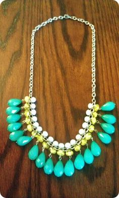 Just love statement necklaces, but they are so expensive! So I want to Do It Myself:: Statement Necklace DIY