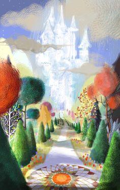 Un château dans les nuages Painting, Illustrations, Art, Ice Castles, How To Paint, Clouds, Art Background, Painting Art, Kunst