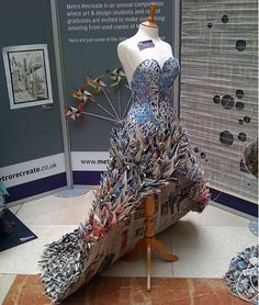 Gorgeous newspaper dress by Yuliya Krypo won the Metro Recreate competition