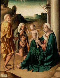 Marco Palmezzano, - 1458 Forlì - 1539 - HEILIGE FAMILIE MIT JOHANNESKNABENUND [...], Catalogue 3 : Maîtres Anciens à Hampel Fine Art Auctions | Auction.fr