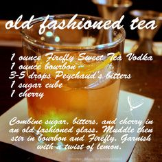 ... Recipes on Pinterest | Sweet tea vodka, Fireflies and Sweet tea
