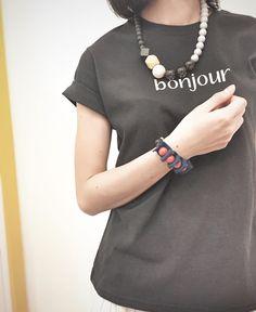 """Bonjour"" Print Tee"