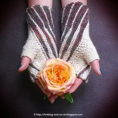 Winding Mitts - free #knitting pattern by Knitting and so on