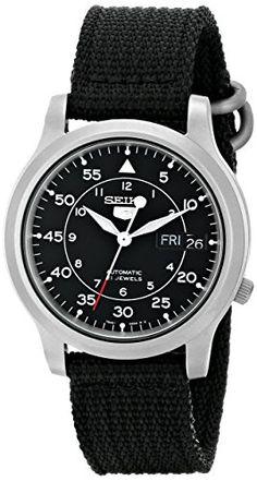 "Seiko Men's SNK809 ""Seiko 5"" Automatic Watch with Black Canvas Strap Seiko http://www.amazon.com/dp/B002SSUQFG/ref=cm_sw_r_pi_dp_V9sVub0H49ZW4"