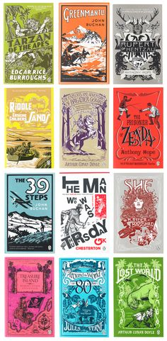 Penguin Adventure book covers