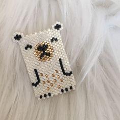 by sha. Seed Bead Patterns, Peyote Patterns, Beading Patterns, Seed Bead Crafts, Art Perle, Brick Stitch Earrings, Peyote Beading, Beaded Animals, Beaded Brooch