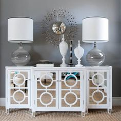 This must be mine! Reflections Mirrored 3-Piece Cabinet Set, $800 ...
