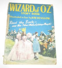 Vtg 1940 UK The Wizard of Oz Story Book Judy Garland Film Cover British Foreign