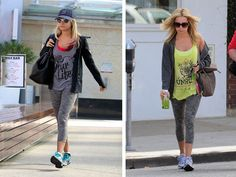 What To Wear to the Gym - Stylish Celebrity Workout Clothes - Seventeen - Ashley Tisdale