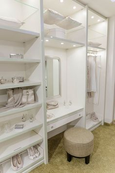 Kleiderschrank Walk-in closet with dressing table # dressing table ideas Walk-in closet with integra Vanity Room, Master Bedroom Closet, Wardrobe With Dressing Table, Closet Vanity, Closet Decor, Wardrobe Room, Dressing Room Decor, Closet Bedroom, Closet Remodel